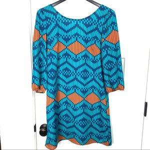 4/$25 Buttons medium exposed back zip dress
